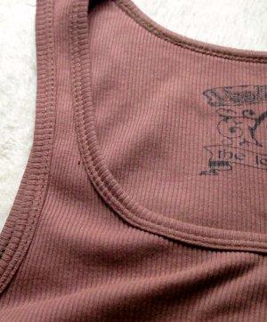 Vielseitiges, braunes Rip-shirt #Tanktop# von Yes Miss