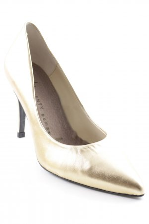 Vienty High-Front Pumps gold-colored classic style