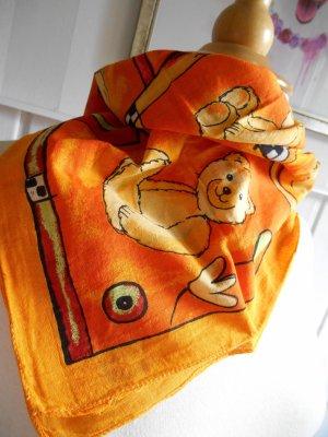 Vierecktuch Halstuch Nickituch Orangetöne BW