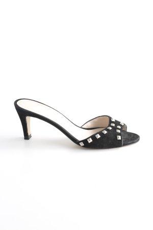 Vigneron Heel Pantolettes black casual look