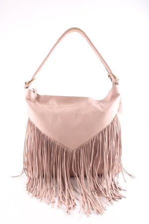 Vigneron Fringed Bag pink casual look