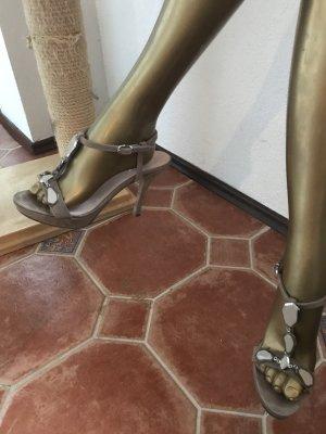 Vigneron Décolleté con cinturino color cammello Scamosciato