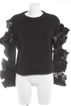 Viktor&Rolf Rundhalspullover schwarz extravaganter Stil