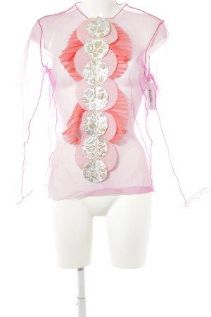 Viktor&Rolf Transparenz-Bluse mehrfarbig extravaganter Stil