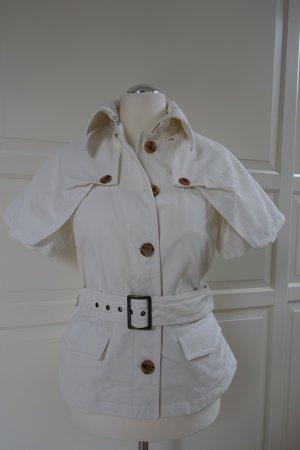 VIKTOR & ROLF Trenchcoat Jacke mit Gürtel, fester, weißer Baumwollstoff, ital. 44 oder EUR 40