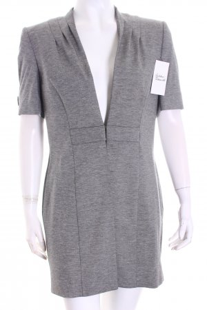 Viktoria Moser Jacke grau-weiß meliert klassischer Stil