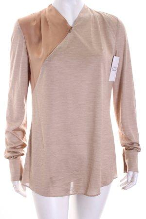 Viktoria Moser Schlupf-Bluse hellbraun-beige meliert klassischer Stil