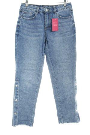 Vila Jeans a 7/8 blu acciaio stile casual
