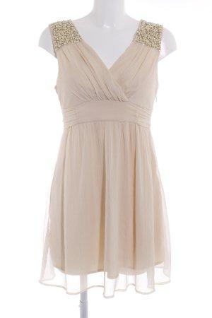 Vila A-Linien Kleid creme-hellgelb Elegant