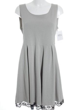Vila A-Linien Kleid hellbeige-schwarz Elegant