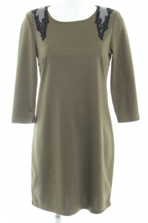 Vila A-Linien Kleid olivgrün Webmuster Casual-Look