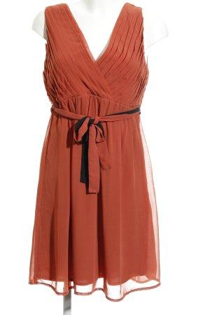 Vila A-Linien Kleid rostrot-schwarz Elegant