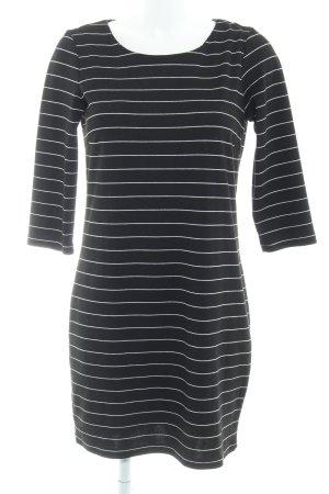 Vila A-Linien Kleid schwarz Streifenmuster Casual-Look