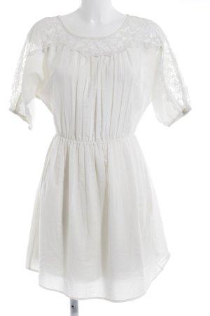 Vila A-Linien Kleid weiß florales Muster Casual-Look