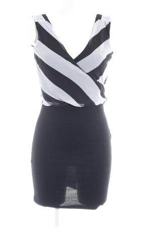 Vila Abendkleid schwarz-wollweiß Elegant
