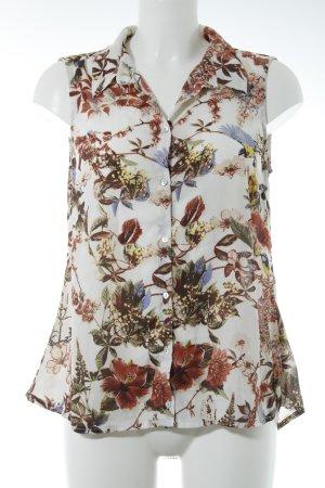 Vila ärmellose Bluse florales Muster Romantik-Look