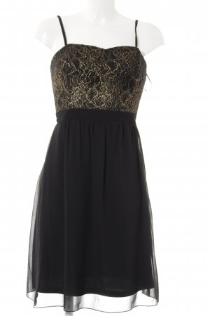 Vila Ball Dress black-gold-colored weave pattern casual look