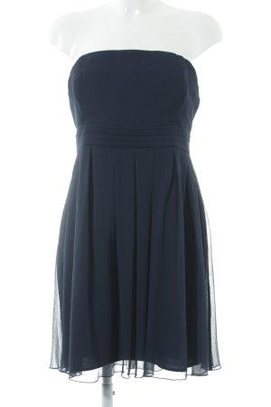 Vila Vestido bandeau azul oscuro elegante