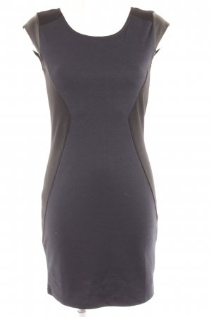 Vila Bleistiftkleid schwarz-dunkelblau Colourblocking schlichter Stil