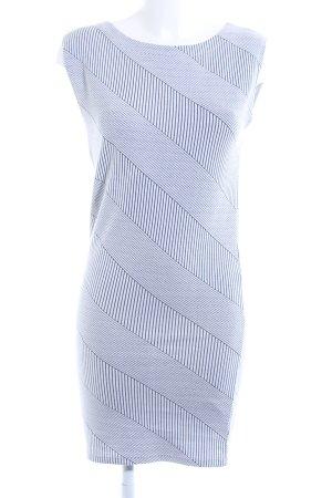 Vila Bleistiftkleid weiß-schwarz abstraktes Muster Casual-Look