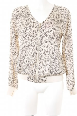 Vila Blouson cream-black floral pattern romantic style
