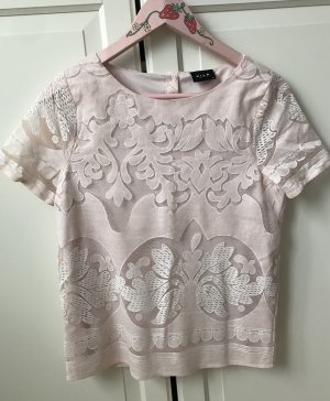 Vila Short Sleeved Blouse light pink