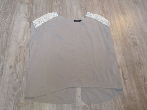 Vila Bluse Shirt Rückenfrei S Spitze beige creme