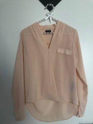 VILA Bluse Tunika Langarm apricot lachs pastell Gr. XS