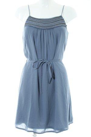 Vila Blusenkleid blau Streifenmuster Casual-Look