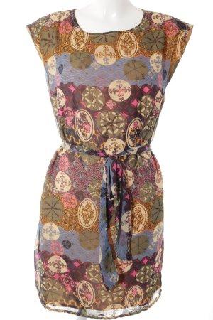 Vila Blusenkleid abstrakter Druck klassischer Stil
