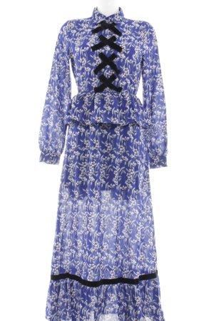 Vila Blusenkleid florales Muster schlichter Stil