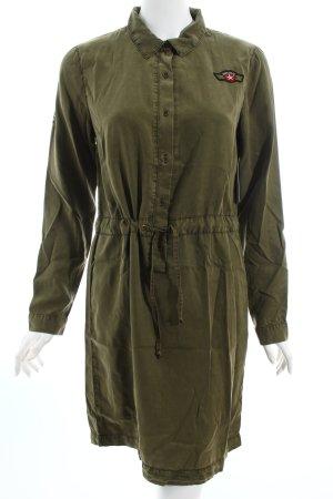 Vila Blusenkleid olivgrün Military-Look