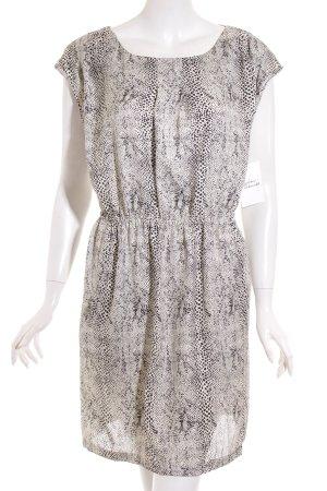Vila Blusenkleid weiß-schwarz Punktemuster Casual-Look