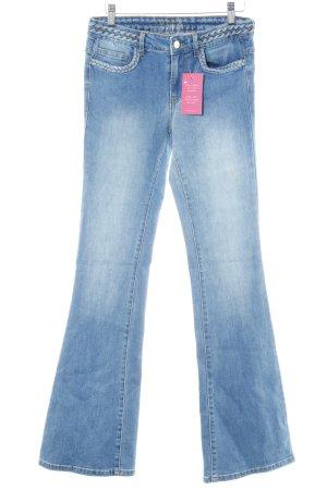 Vila Boot Cut Jeans hellblau College-Look
