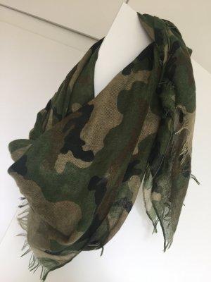 Vila Camouflage Tarn Tuch Schaltuch top Damen grün