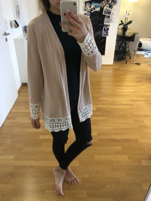 Vila cardigan Rose rosa weiß spitze Jacke Strickjacke xs s 34 36 Mode Blogger Fashion