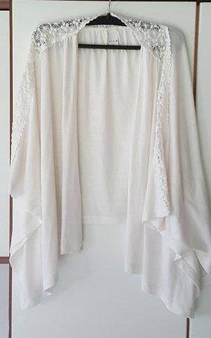 VILA- Cardigan (weiß) mit Muster