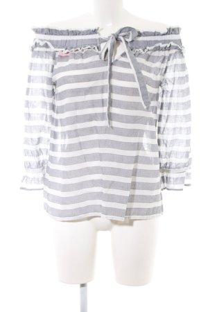 Vila Carmen Blouse light grey-white striped pattern casual look
