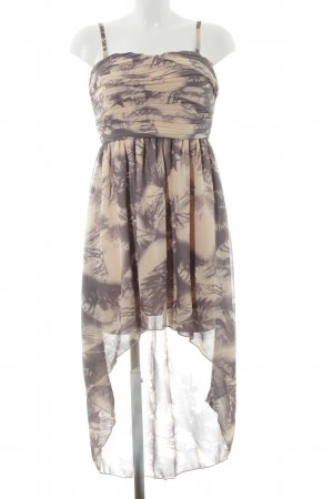 Vila Chiffonkleid creme-graulila abstraktes Muster Party-Look