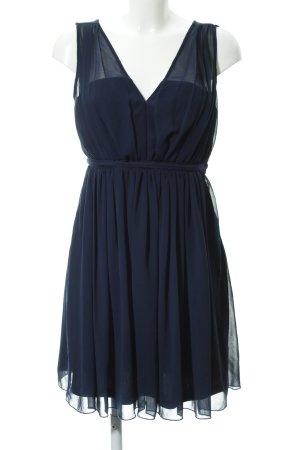 "Vila Chiffon jurk ""Vicotina Dress"" donkerblauw"