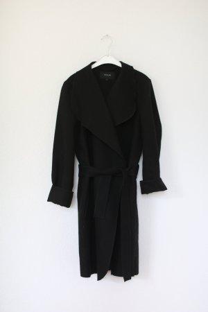 Vila Coat Mantel Gr. M mit Gürtel schwarz Trenchcoat