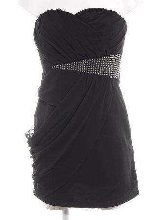 Vila Cocktailkleid schwarz-silberfarben Elegant