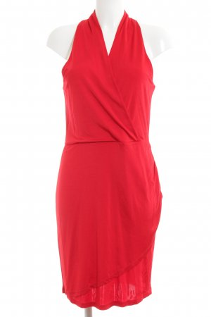 Vila Vestido cut out rojo elegante