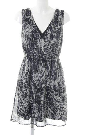 Vila Cut-Out-Kleid schwarz abstraktes Muster Party-Look