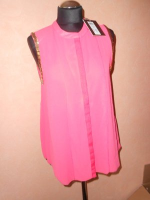 Vila Damen Bluse Gr. M pink mit Goldapplikation