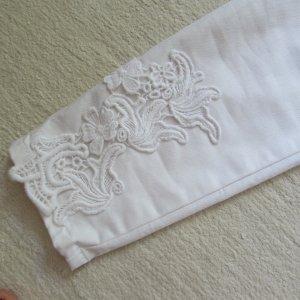 VILA * Edle skinny Hose * weiß 3D-Stickerei * XL=40/42 NEU