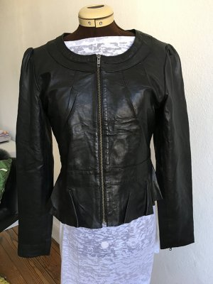 Vila Leather Jacket black leather