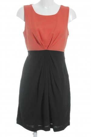 Vila Sheath Dress dark orange-black elegant