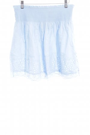 Vila Plaid Skirt azure casual look