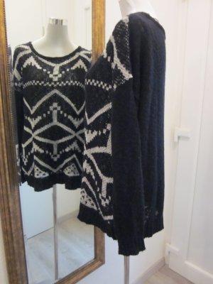 #Vila Feinstrick Pullover schwarz weiss Gr L